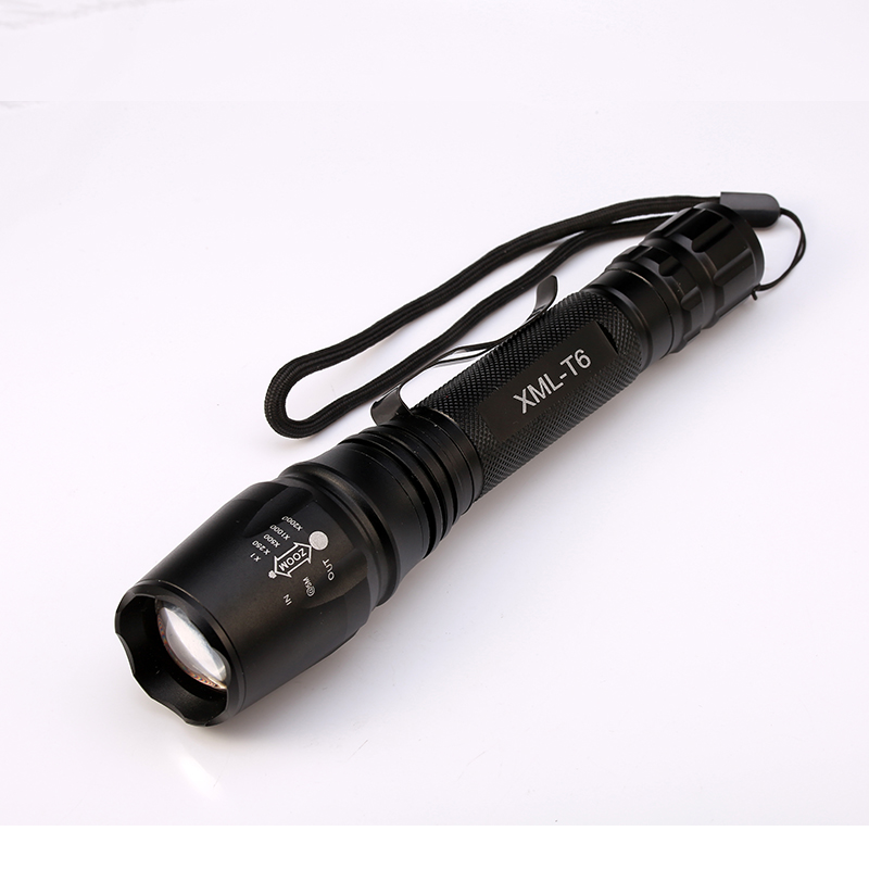 6000LM Flashlight CREE XM-L T6 LED Zoomable Focus Flashlight Torch Light+2x18650 Battery+US/EU Charger