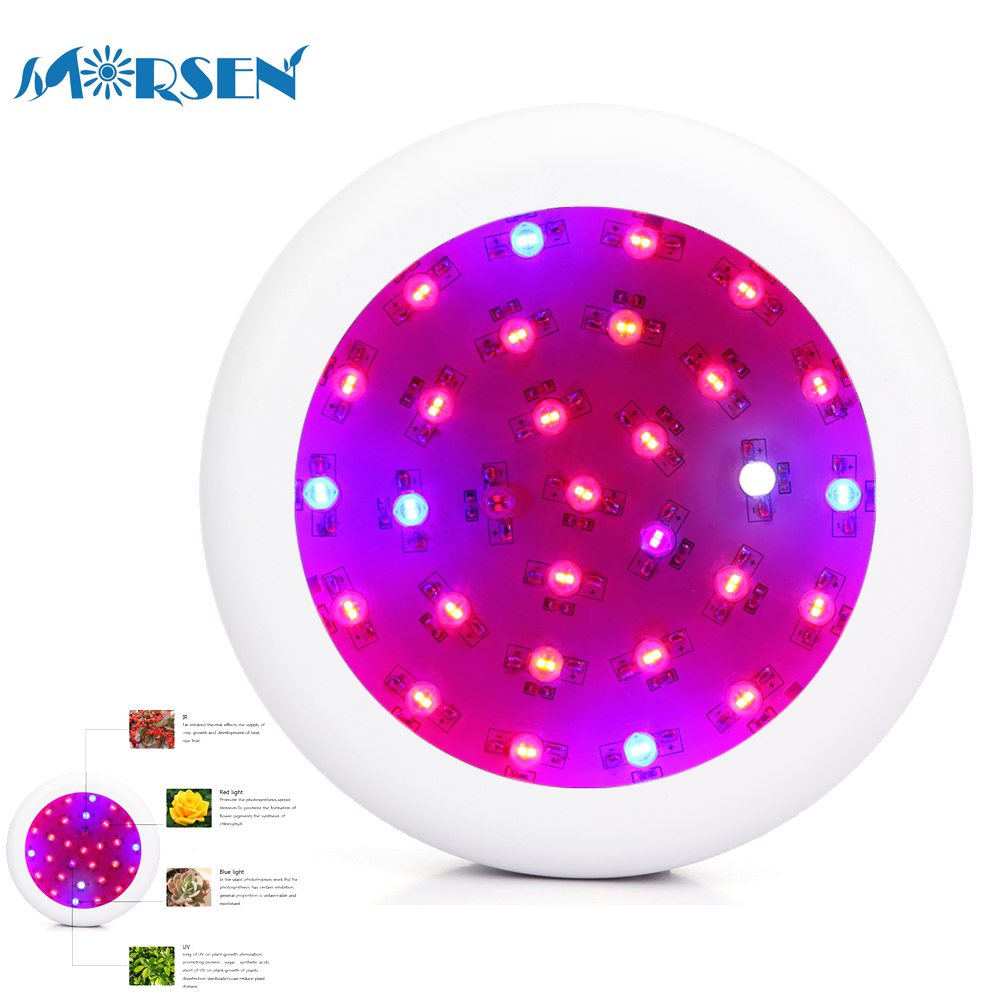 18pcs 300W UFO Led Grow Light Full Spectrum UV IR Red Blue White Led Plant Panel Lamp For Plants Flower Seeds Growing Box30