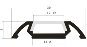 LED Aluminum Profile LA-LP28 drawing