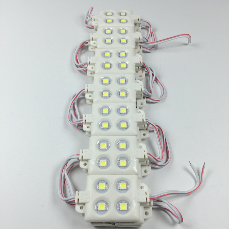 20pcs/lot Injection Led Module 5050 smd 4 LED 12V 0.96W Waterproof IP66 For Sign and advertising backlighting light box
