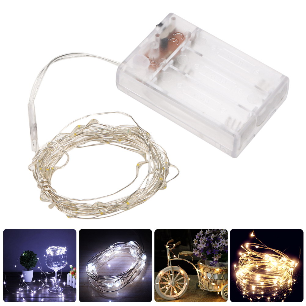40 LED Copper Wire Fairy Lights String LED String Lighting Holiday Christmas Wedding Party Decoration Light White/Warm White
