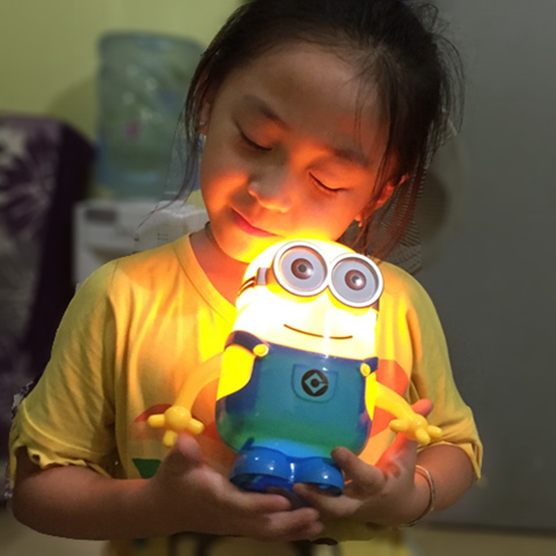 Creative charging LED desk lamp learning eye lamp working students cartoon children small night lamp bedside lamp