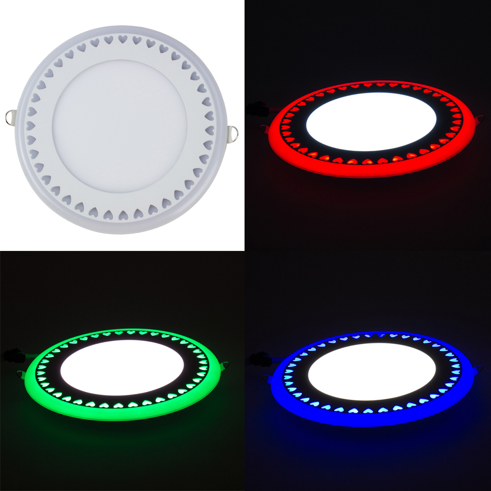 T-SUNRISE NEW Arrival RGB LED Panel Downlight 3W 6W 12W 18W Round Ultra Thin 3 Model LED Ceiling Recessed Panel Light AC85-265V