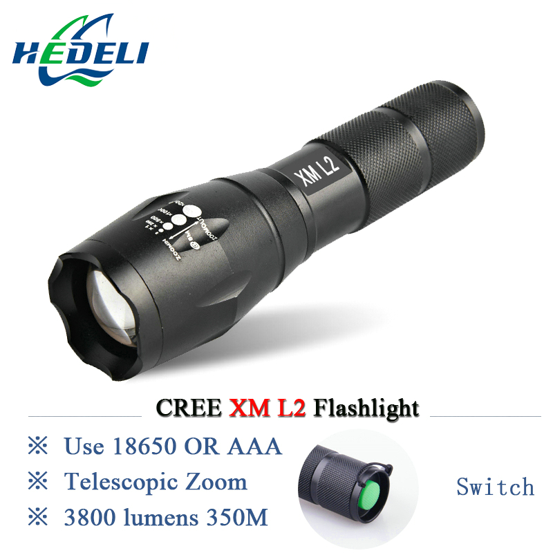 Powerful LED Flashlight CREE XML T6 XM-L2 Lantern Rechargeable Zoomable Waterproof AAA OR 18650 Battery Lamp Hand Light Torch
