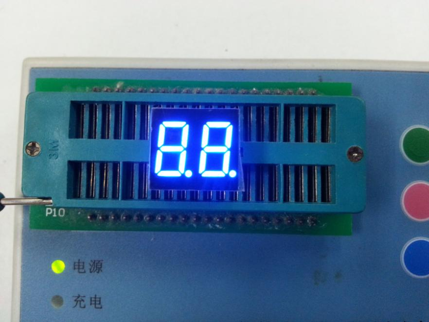 "0.36"" inch two digital blue  LED digital common anode 7 segment blue led  display 2 digits LED module"