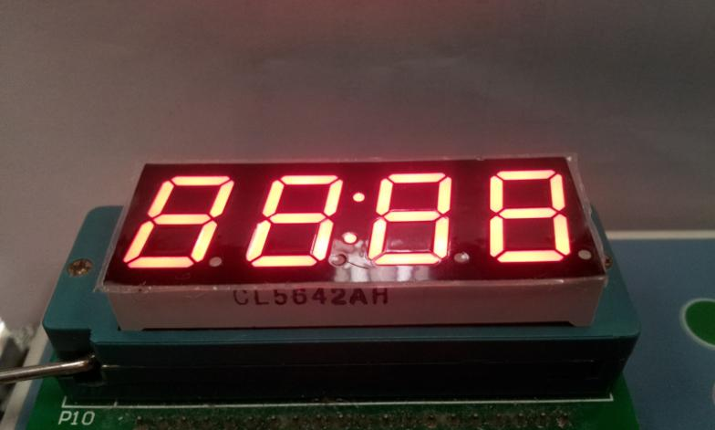 "0.56""  inch  for clock , 7 segment red led display digital tube  high quality 4 digits LED module"