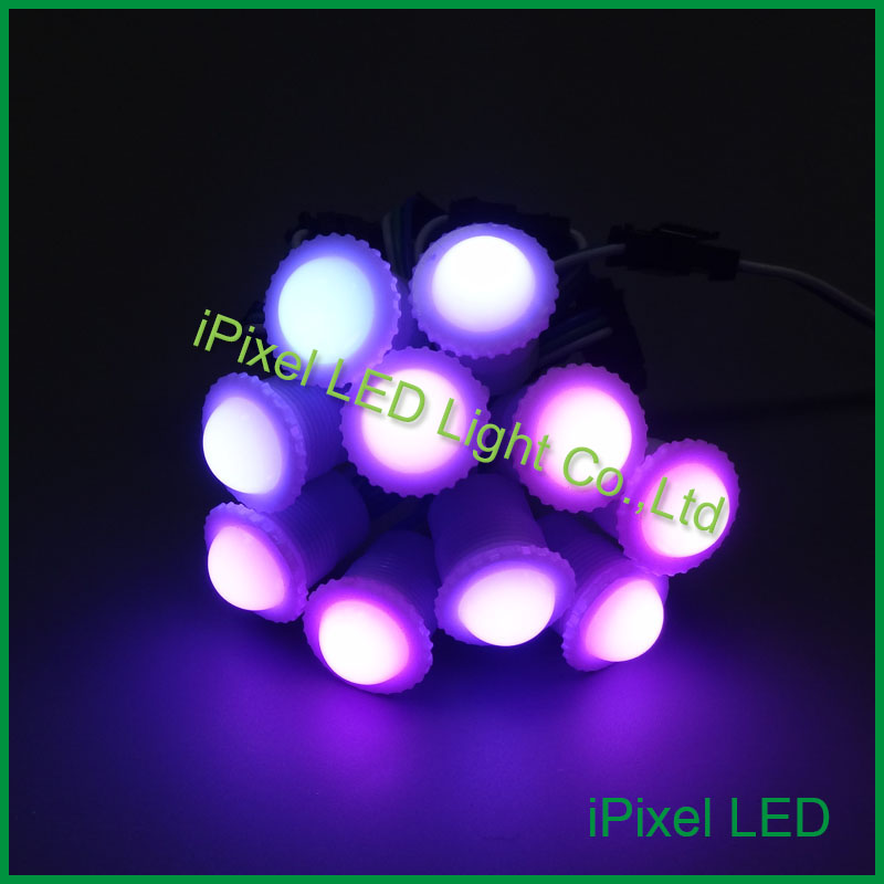 strobe light led cap disco deco 16mm Diameter WS2811IC 1pcs SMD 5050 RGBLED pixel ball