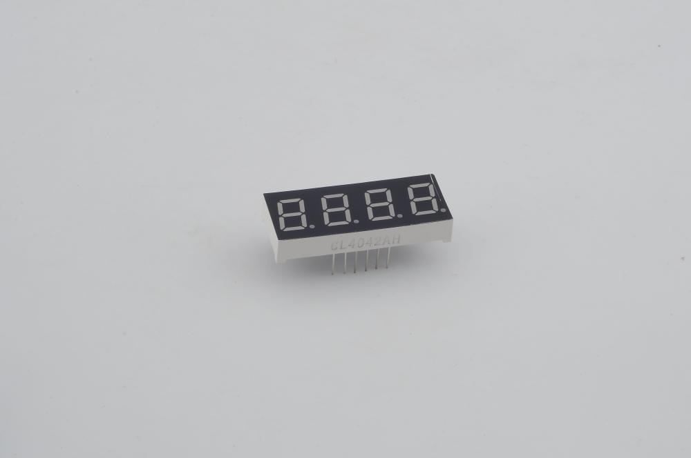 "0.4""inch four super bright red high quality  7 segment red led display 4 digits"