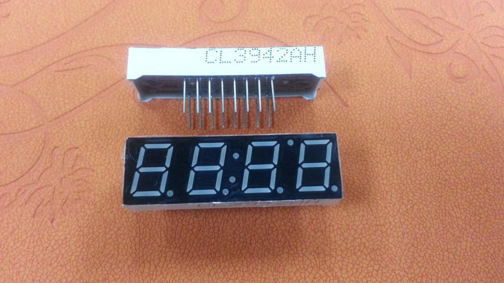"0.39""inch  common cathode LED for clock ,7 segment red led display 4 digits"