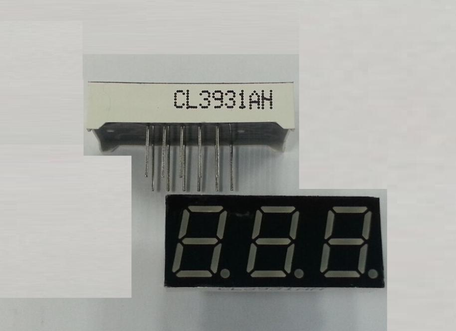 "0.39"" inch  common cathode , 3931 digital tube 7 segment red LED display  3 digits"