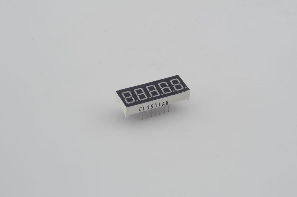 "0.36"" inch five super bright high quality 7-segment red LED  display 5 digits"