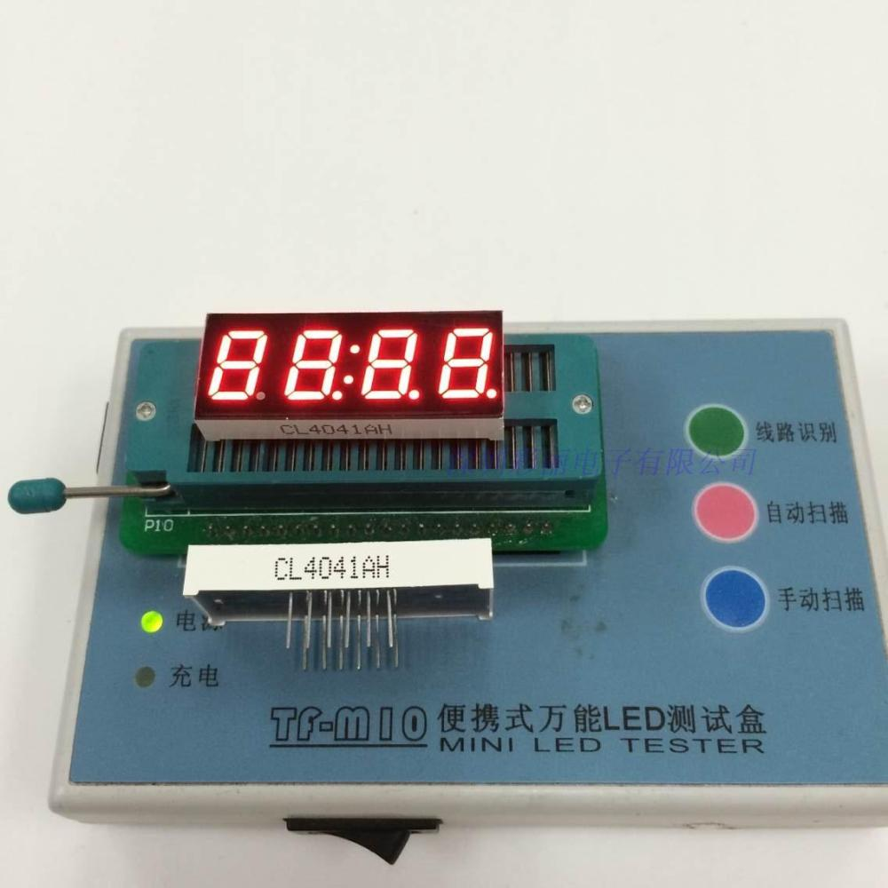 "0.4"" inch four digital tube,7 segment red led display 4 digits"