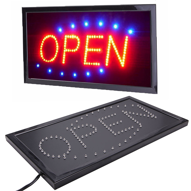 Bright Animated Motion Running Neon LED Business Store Shop OPEN Sign + Switch US plug 110V