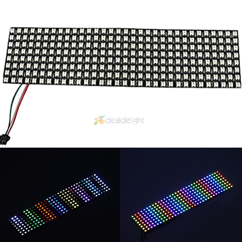 8*32 Pixel 256 Pixels WS2812B Digital Flexible LED Programmed Panel Screen Individually Addressable Full Color DC5V