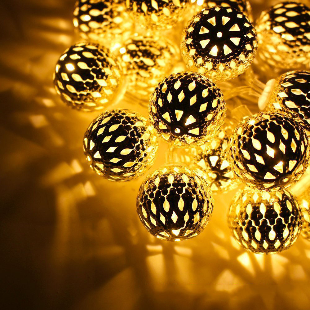 3M 10Leds Solar led String ball Lights waterproof Outdoor Christmas Party Wedding romantic Decoration Lighting Lamp
