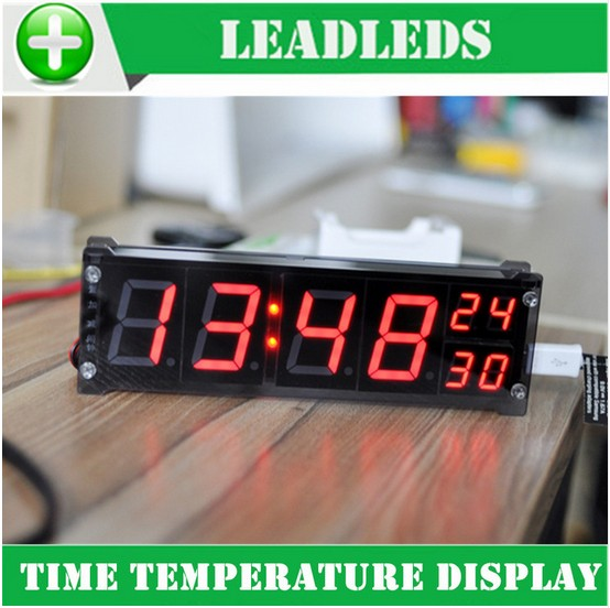 1.2 inch Desktop Large Digital LED Display Clock Precision Electronic Clock With Temperature Car Alarm Indoor Lighting Sign