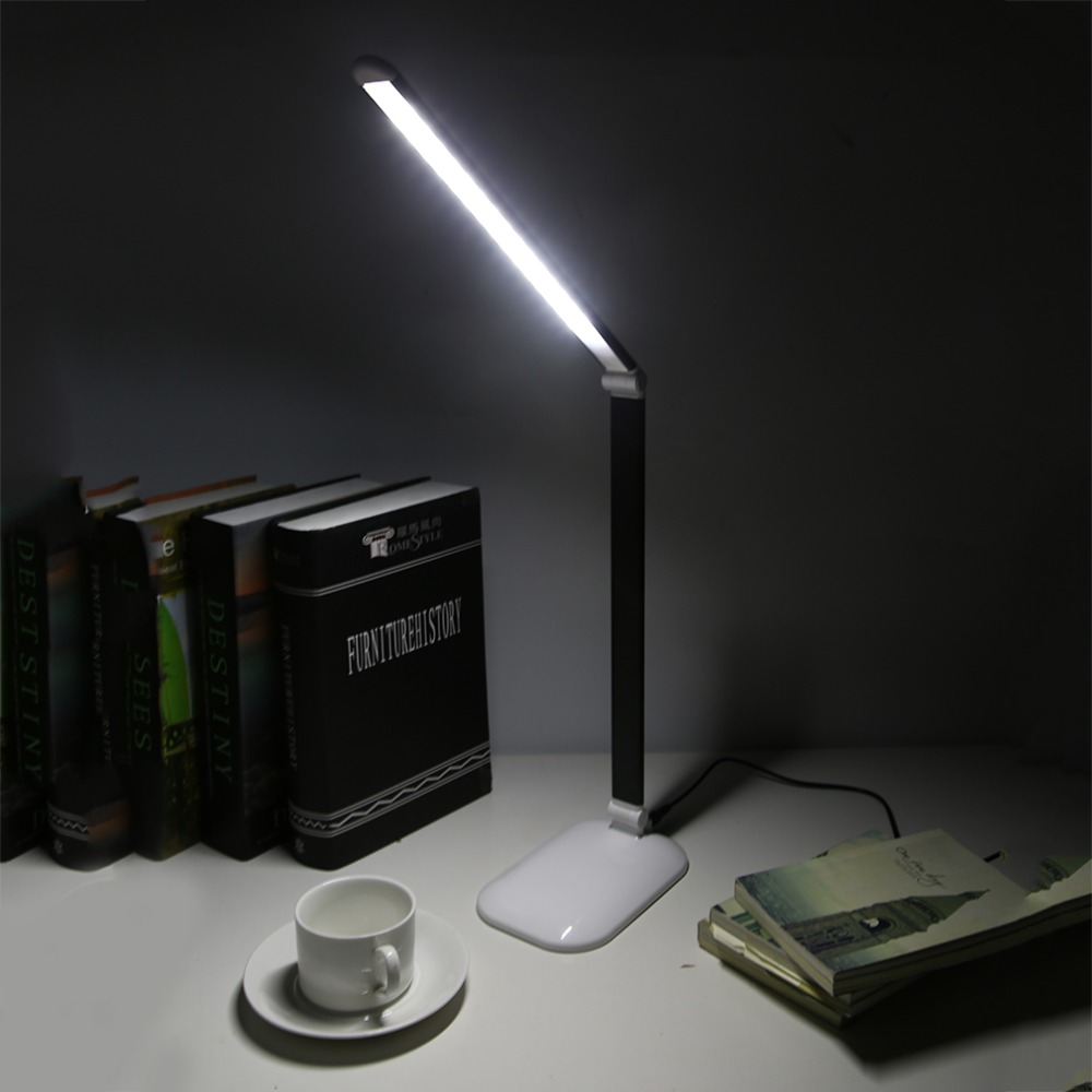 FX008A Folding 5W Portable LED Table Lamp with Child Eye-Protection Light Desk Lamp Touch Book Light for Study LED Light Lamp