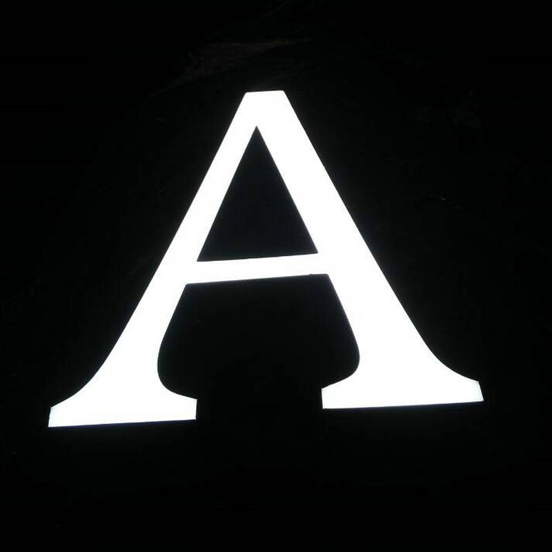 Outdoor Waterproof Epoxy resin luminous letters customized 3D led logo for store