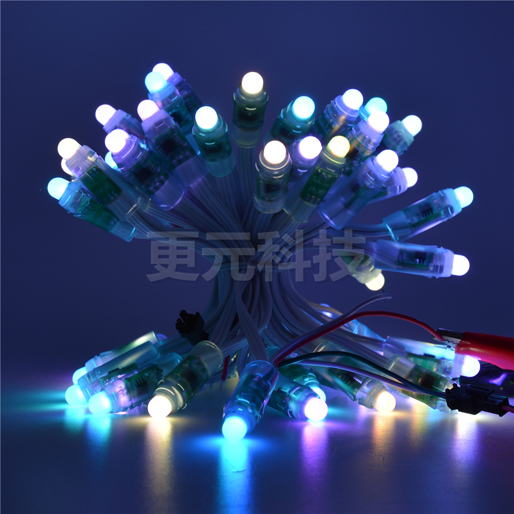 WS2811 5V 12mm LED Module,Black/Green/White/Transparent /RWB Wire String Christmas light;Addressable,IP68 waterproof 100PC/LOT