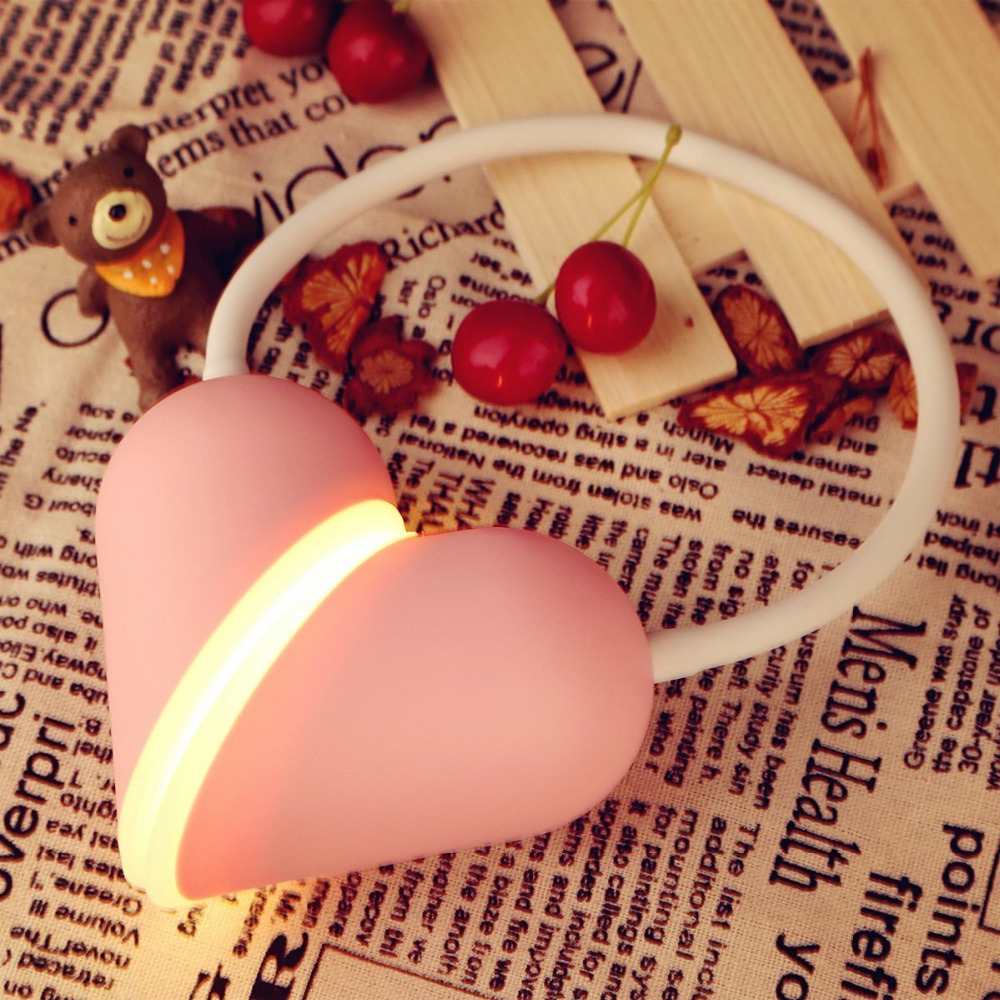 New Super Love Flexible Led Desk Lamp Multivariant Heart Lock Style Nightlight Smart Touch Dimmable LED Table Reading Study