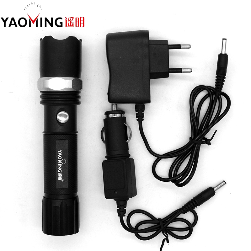 Powerful Linternas Cree Q5 2000LM Police Flashlight Rechargeable Led Lamp Torch By 18650 or 3 x AAA Battery Tactical Lantern