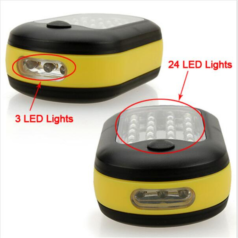 27 LED Magnetic Work Light Flashlight with Hanging Hook and Magnetic Light Lamp Torch Linternas Lanterna Lamp USE 3x AAA Battery