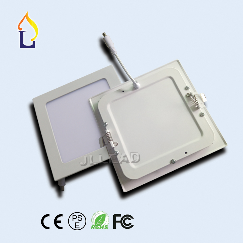 (20 pcs/lot) Led light 9W 45leds/ 12W 60leds Square Led panel Light SMD2835 AC85-265V High brightness led ceiling down light