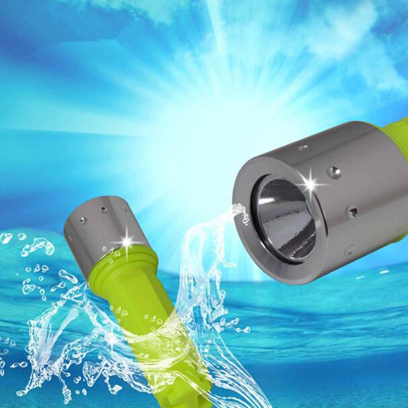 RU ZK30 LED Diving flashlight Underwater light CREE Q5 Waterproof dive Flashlight Lamp Torch lantern hunting Use 1x18650 battery