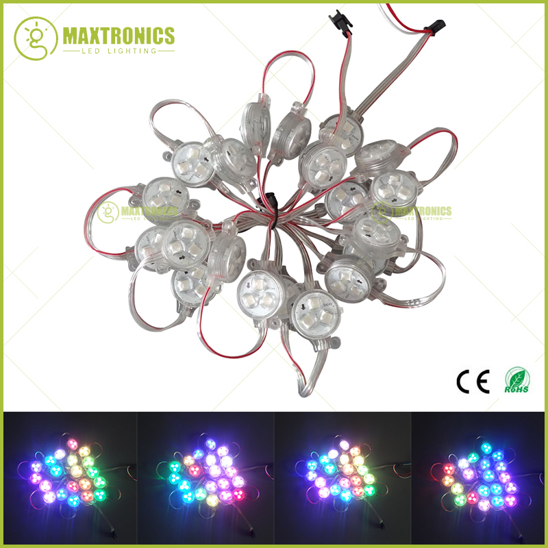 Wholesale price 200pcs DC12V 30mm WS2811 3 5050 LEDs RGB Pixel LED Module Transparent Cover IP68