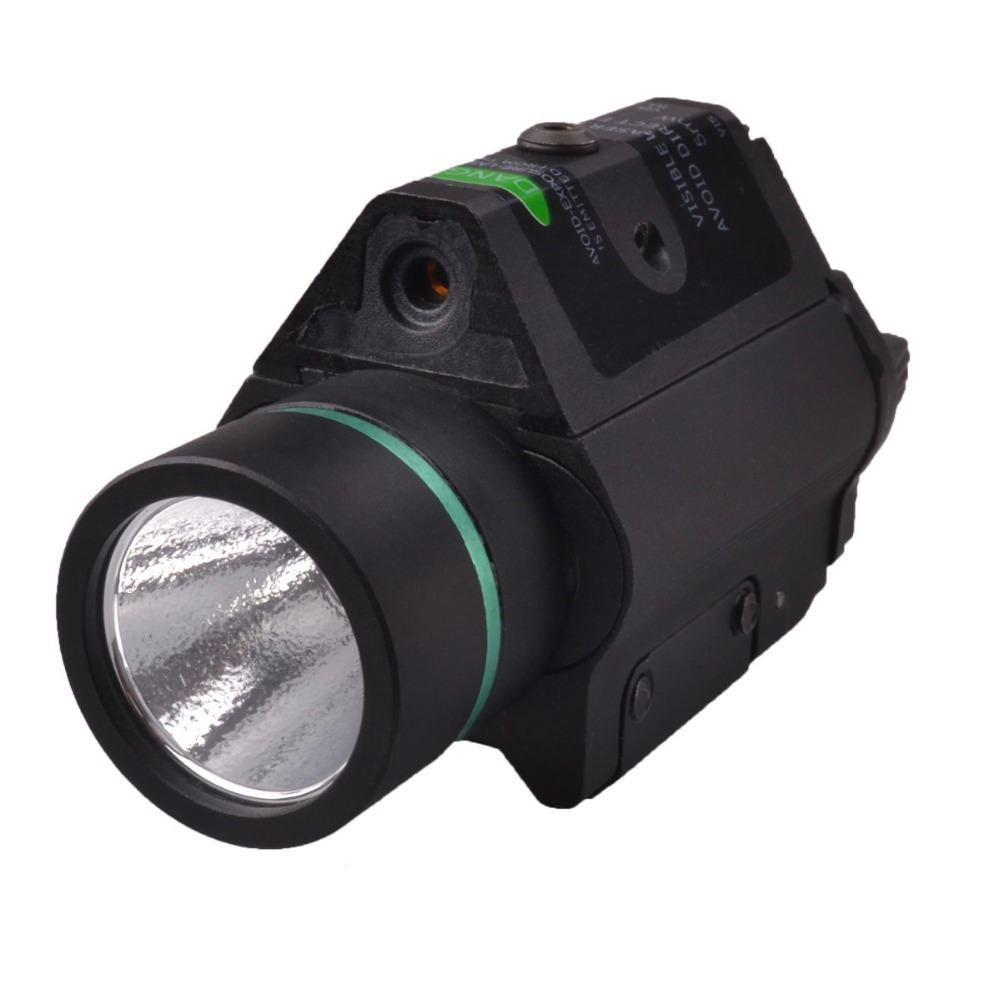 2016 RichFire SF-P14 Tactical Pistol 5mw Green Laser Stroboscopic and LED Flashlight CREE XR-E Q5 - Balck