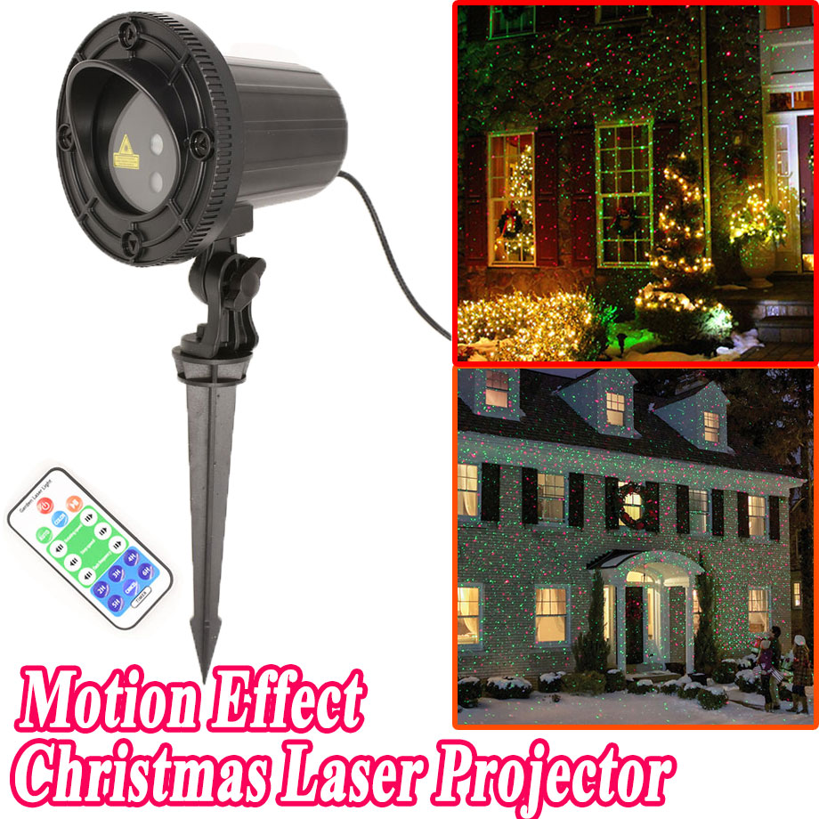 New Year Christmas Star Lights Laser Showers Projector Motion Outdoor For Home  Decorations 110V 220V