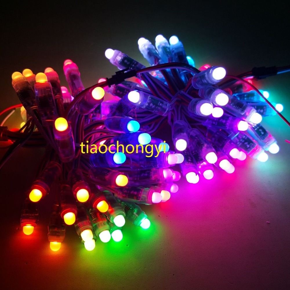 50PCS/1set 5V WS2811 Pixel Module 12mm Full Color Digital +T500 Full RGB controller+ 2A 5V power supply