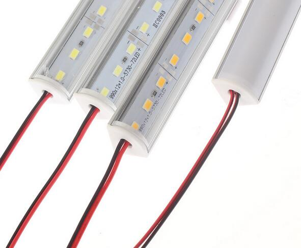 LED Bar Lights DC12V  5730/ 5630 LED Rigid Strip 50cm LED Tube with U Aluminium Shell + PC Cover 5pcs/lot