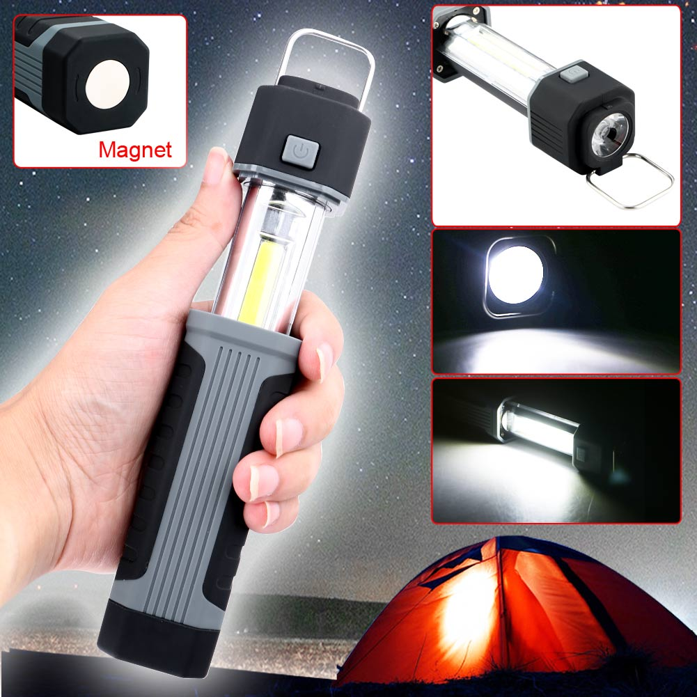 Hot Selling 2 in 1 3W COB LED Stretchable Flashlight Torch Working Lamp with Strong Magnet
