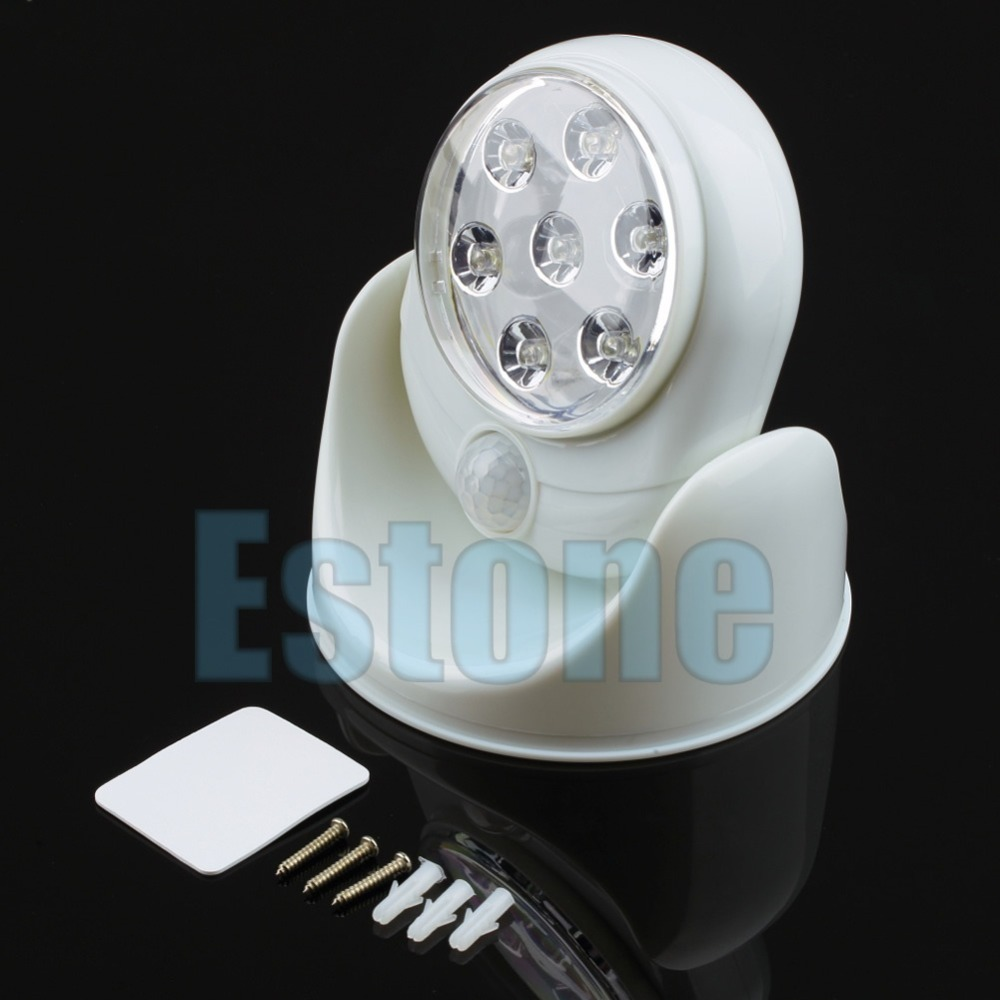 Wireless Motion Activated Sensor Stick Up Cordless 7-LED White Angel Night Light -Y103