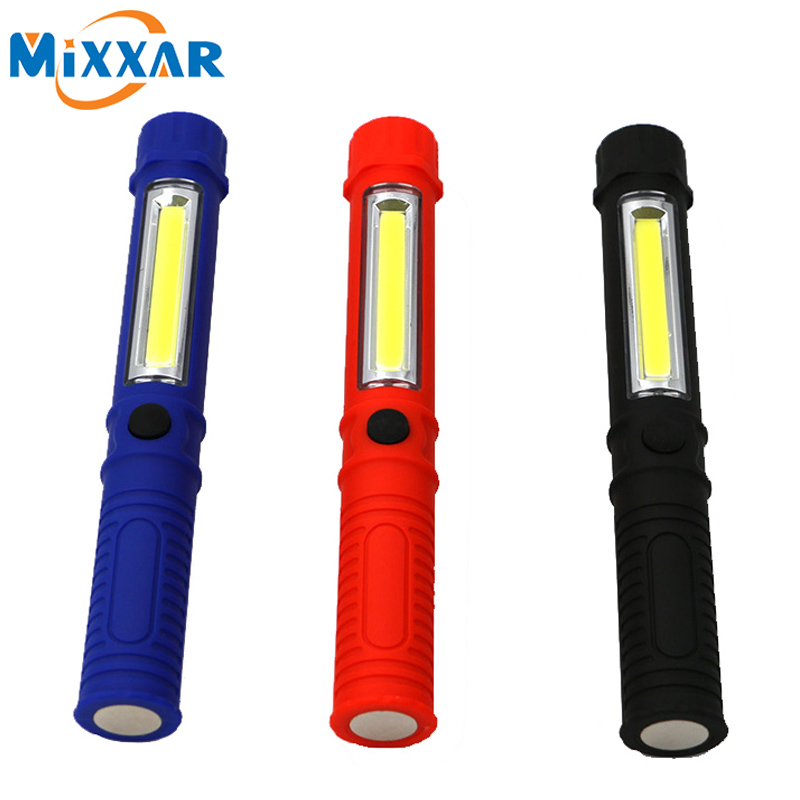 zk10 COB LED Mini Pen Multifunction led Torch light cob Handle work flashlight Work Hand Torch Flashlight With the Bottom Magnet