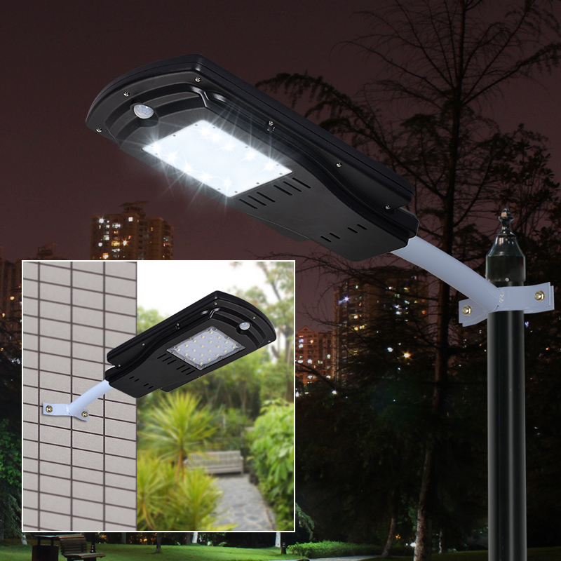 8W 10W Outdoor Waterproof IP65 Integrated All In One PIR Motion Sensor LED Solar Street Light for Garden Yard Road Path Lighting