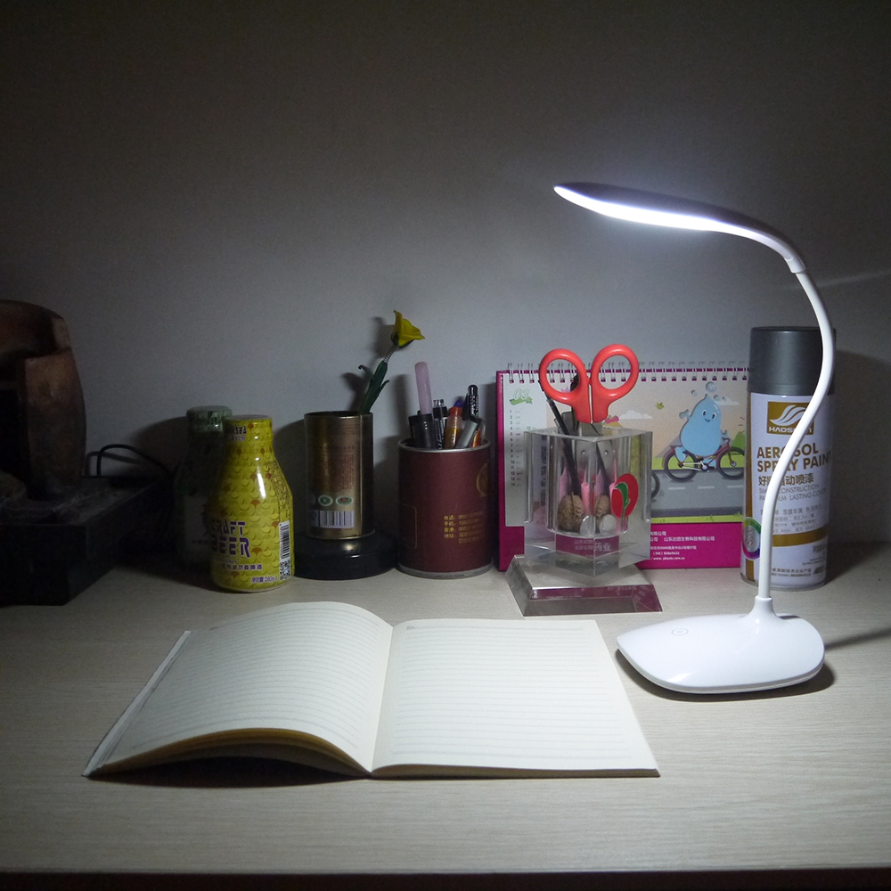 3 Modes Adjust Fashion LED Rechargeable Desk Lamp Smart Touch Eyes Protective illumilite Led Table Lamp Night Light