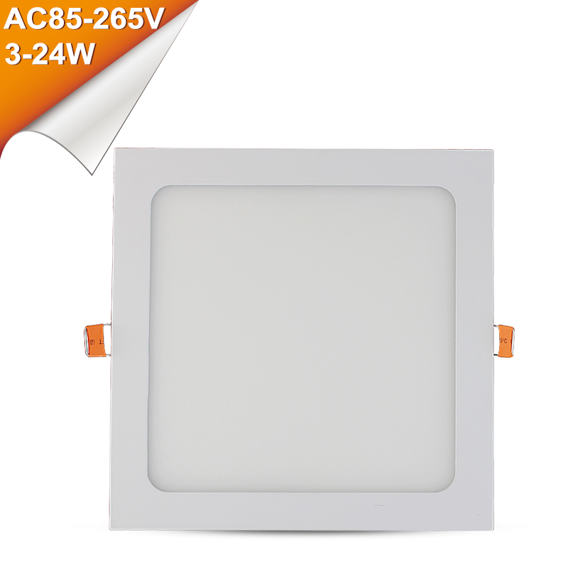 LED Panel Downlight Ultra Thin Square AC 220V 3W 4W 6W 9W 12W 15W 18W 24W Kitchen Bathroom Ceiling Recessed LEDs Panel Light