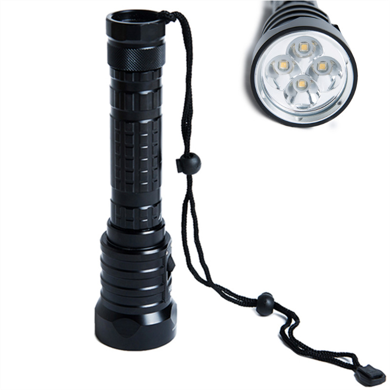 SolarStorm DX4S Diving Flashlight IPX8 Waterproof XM-L U2 LED Torch Submarine Lamp 3 Modes 3200 Lumens with Lanyard