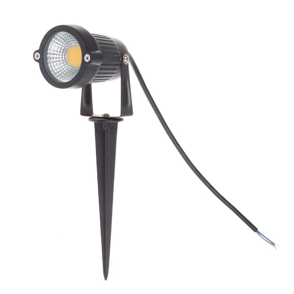 10pcs COB 3W 5W 7W 9W ip65 outdoor led spike lawn lamp with cap 12V 110V 220V led lawn spike lamps for garden lighting
