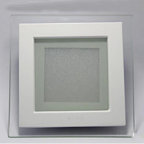 6W 12W 18W LED Panel Downlight Square Glass Cover Lights High Bright Ceiling Recessed Lamps AC85-265 + Driver
