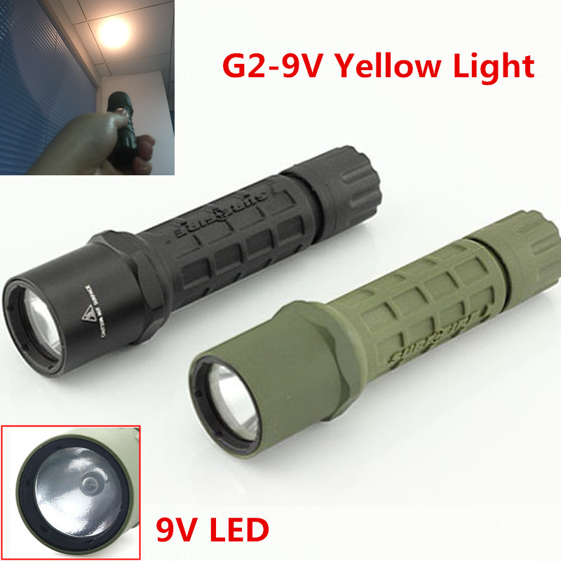 Yellow Light Tactical Torch 300lm LED Flashlight 16340 for G2 Xenon Light LED Torch
