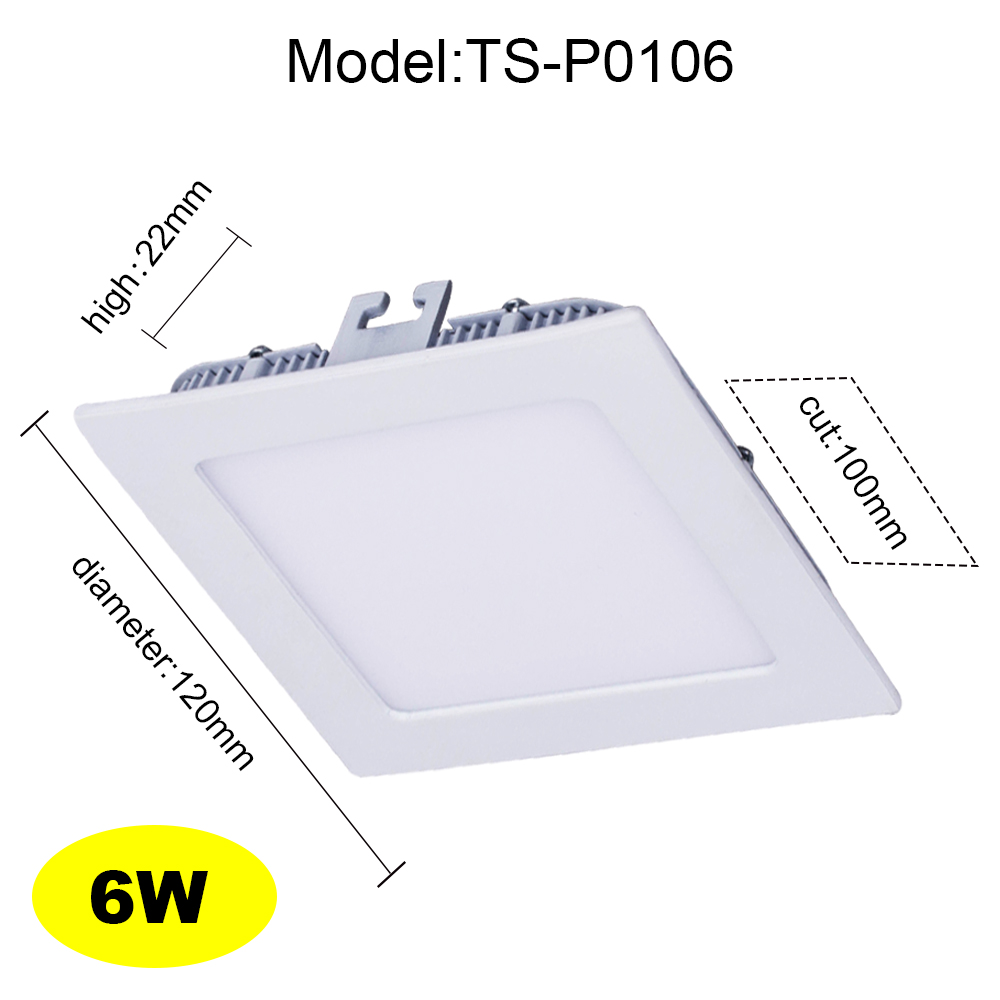 New Arrival Ultra Thin LED Panel Light Downlight Square Ceiling Recessed Lamp 6W 9W 12W 15W 18W 24W Surface Mounted Downlight