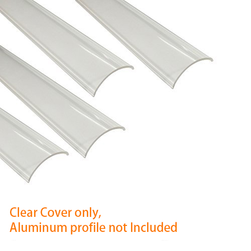 Crystal Clear Cover Lens Ostyer Milky White Cover for ALP006 Silver Black finish 16x16mm LED Aluminum Channel Dust Protect