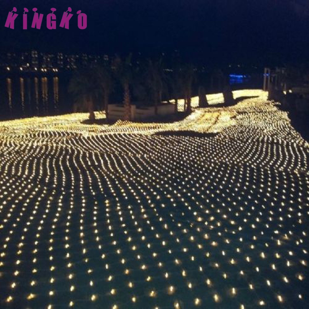 Kingko 220V Holiday Lighting String 3Mx2M 200LED String Fairy Lights Net Mesh Curtain Chrismas Wedding Party u61207 DROP SHIP
