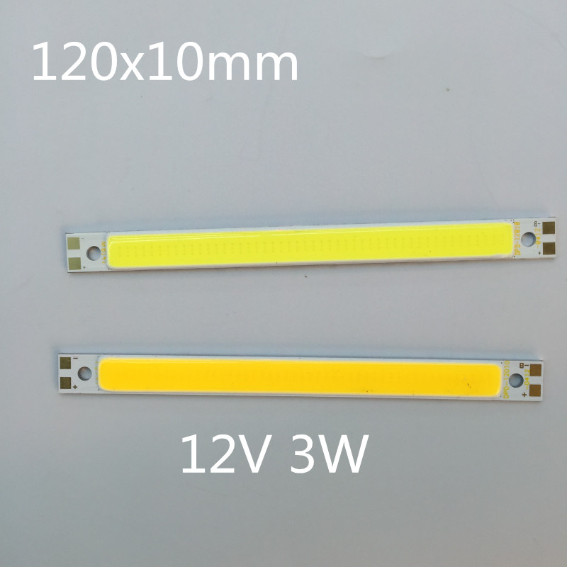 LED cob module strip LED lights glowing plate surface 12V DIY table lamp source vehicle light LED source light 120mm