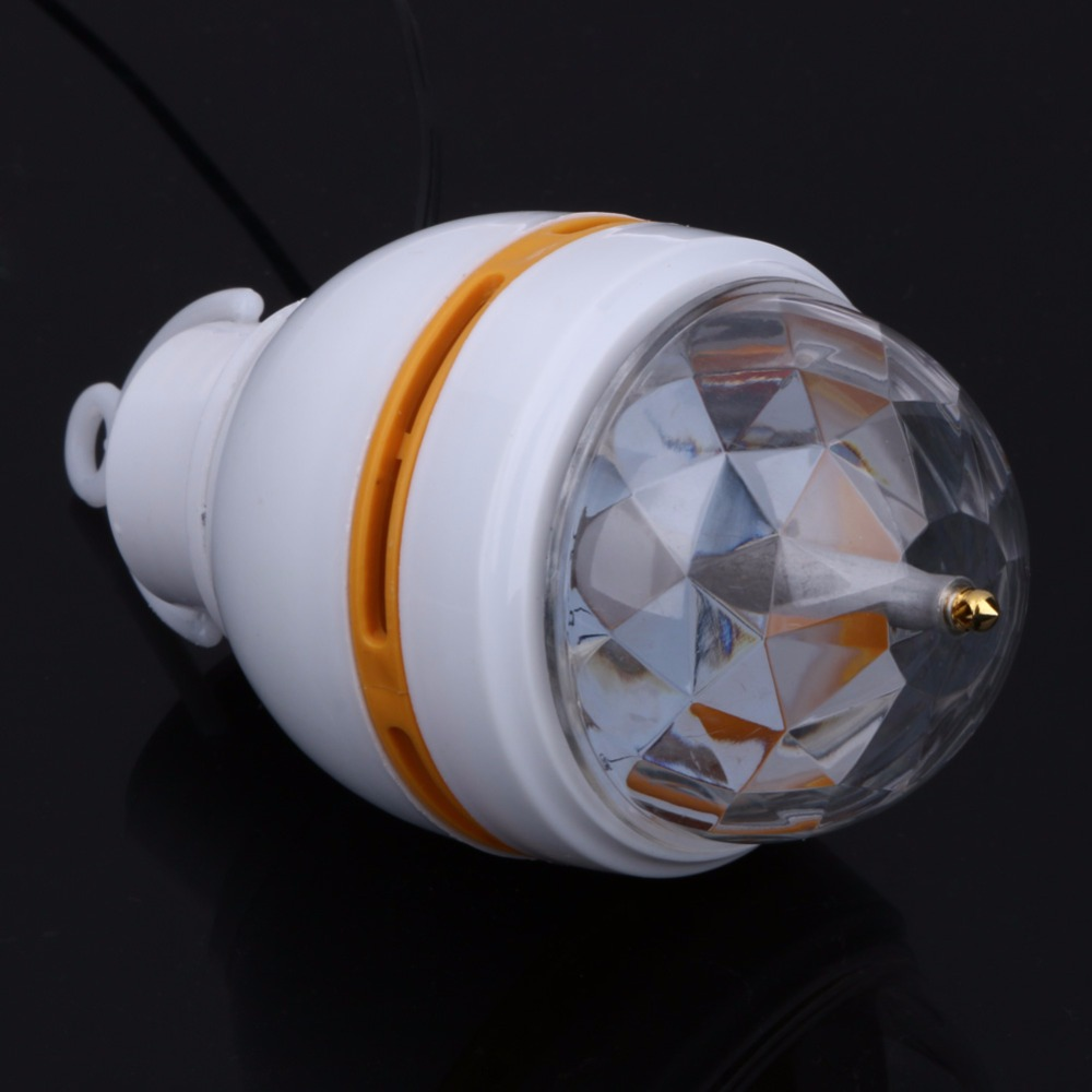 3W RGB USB LED Rotating Stage Light Crystal Magic Ball Ktv Projector Home Decoration Lighting Disco Lamp USB