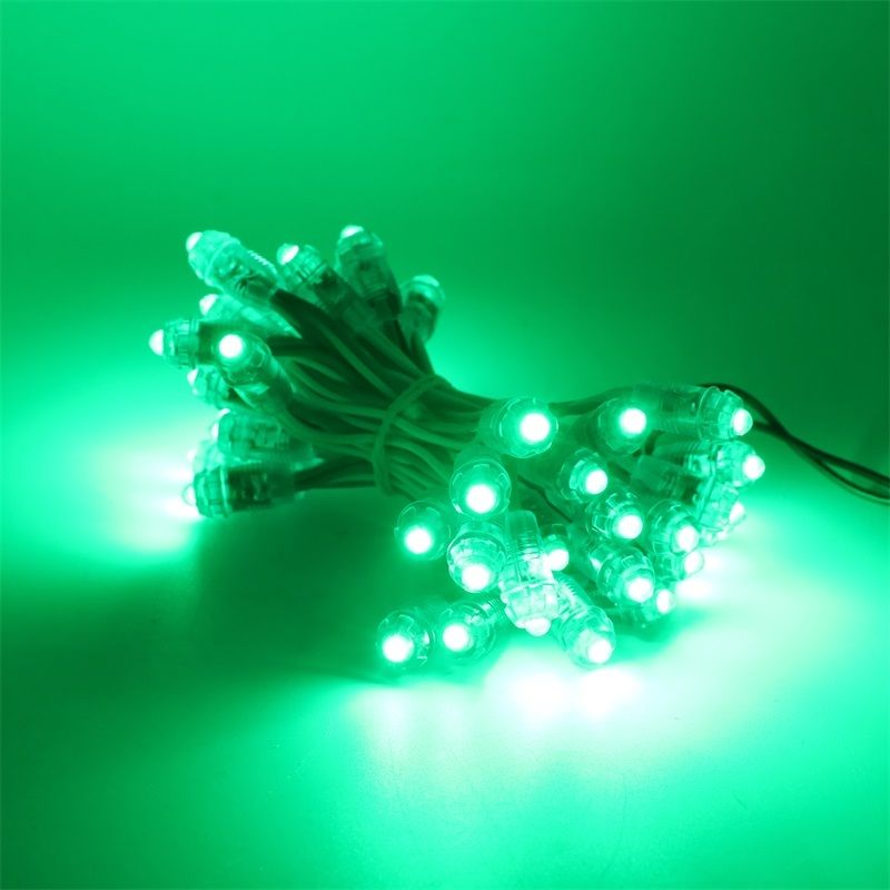 100pcs 9mm Pixel Module DC 5/12V waterproof IP68 String Light Round Shape