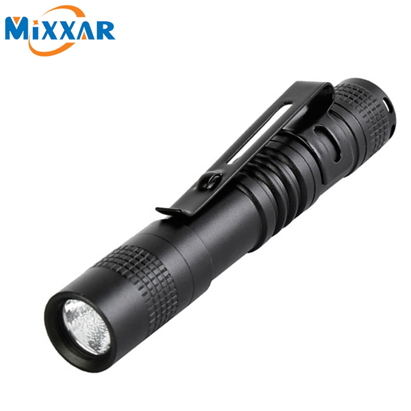 zk5 Mixxar Mini Flash Light CREE Q5 250 Lumens LED Flashlight Belt Clip Pocket Torch Portable Flash Torch Lamps Use AAA Battery